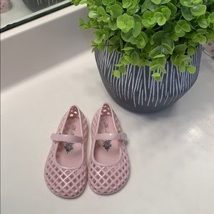 Old Navy Pink Velcro Jelly Sandals